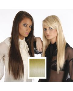Universal 20in Light Blonde Gold Streaks P24/613 Clip in Human Hair Extensions 105g