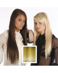 Universal 20in Light Blonde with Honey Streaks P27/613 Clip in Human Hair Extensions 105g