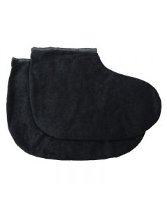 Deo 100% Cotton Pedicure Booties Black 1 Pair