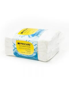 Procare Premium Disposable White Towels Pack of 50 40cm x 80cm
