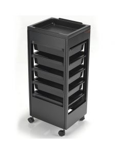 REM Studio Trolley Black with Flat Top Tray
