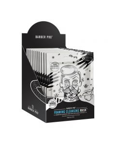 BARBER PRO Foaming Cleansing Mask Retail Display Case Box of 12