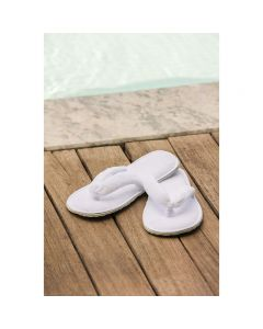 BC Softwear Fleece Thong Style Luxury Slippers White