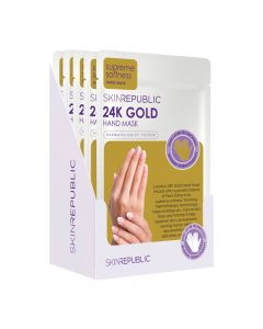 Skin Republic Hand Mask 24K Gold Foil 18g Pack of 10