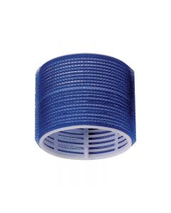 Jumbo Velcro Rollers Dark Blue 78mm x 6