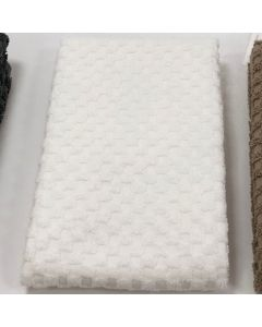 BC Softwear Serenity Spa Waffle Patterned Bath Towel White 70 x 135cm