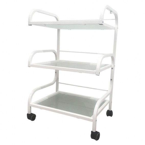 Lotus Beauty Trolley 2: Frosted Glass Shelves