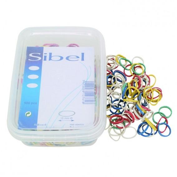 Sibel Mini Hair Elastics Assorted Colours Box of 500