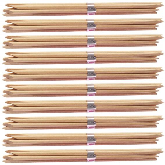 Lotus Essentials Orange Wood Sticks 7in x 100