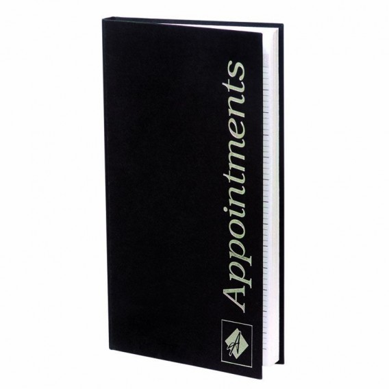 Agenda Appointment Book 3 Column Black Salons Direct