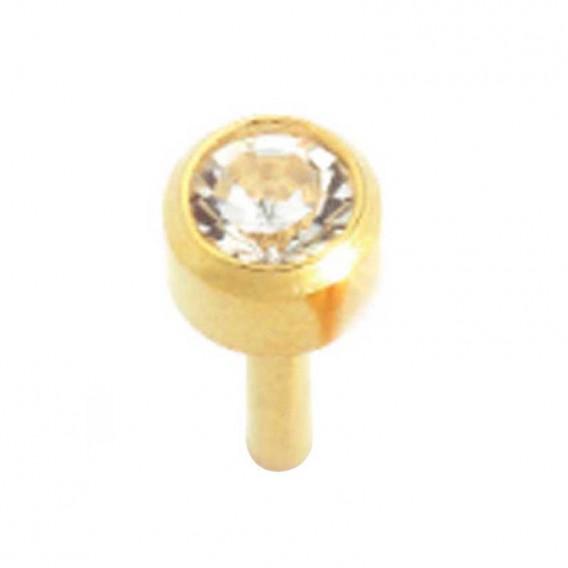 Caflon 24ct Gold Studs x 12 Crystal