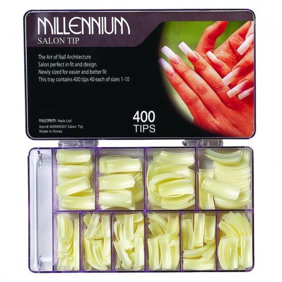 400 Nail Tips - Salon Gold Tip