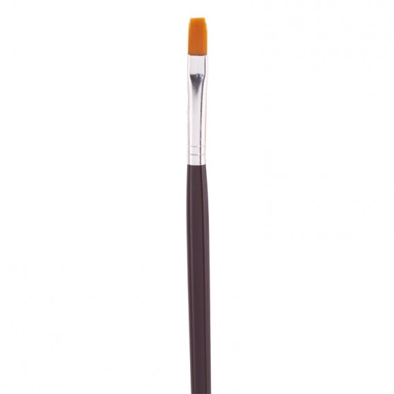 The Edge No 5 Flat Nylon UV Gel Brush