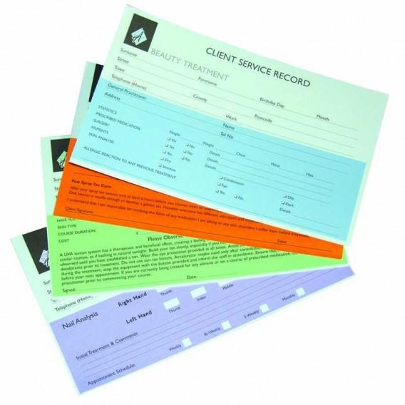 Agenda Record Cards Nails x 100