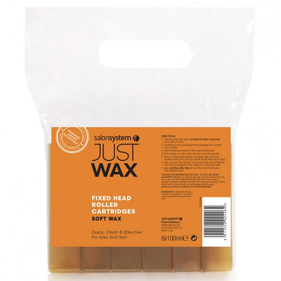 Just Wax Roller Refill Large Head Soft Wax 100ml x 6