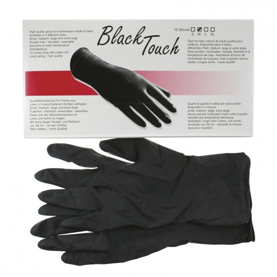 Black Touch Glove x 5 Pairs