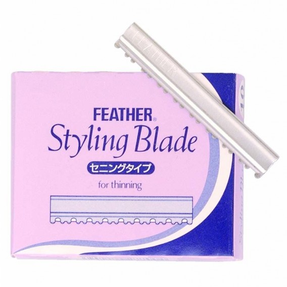 Feather Styling Blades for Thinning pack of 10