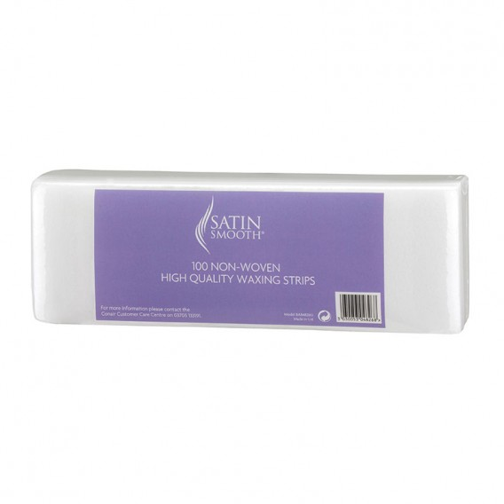 Satin Smooth Non Woven Paper Waxing Strips (Pack of 100) by BaByliss Pro