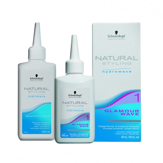 Schwarzkopf Natural Styling Hydrowave Glamour Wave 1 Pack of 4 Perms