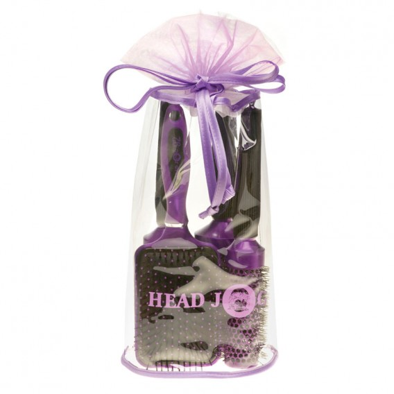 Head Jog Oval Purple Brush Bag
