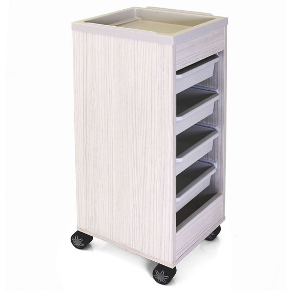 REM Stadium Trolley Dawn with White Flat Top & Trays