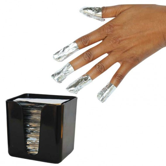 Magis Gel Foil Nail Wraps Fingers