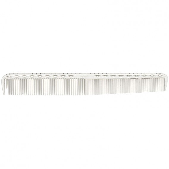 YS Park YS G35 Extra Long Fine Tooth Comb with Cutting Guide White