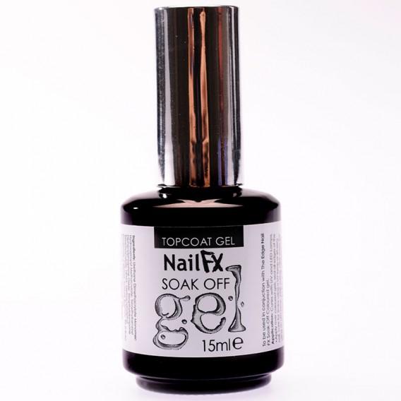 NailFX Gloss Coat Soak Off Coloured Gel Polish 15ml