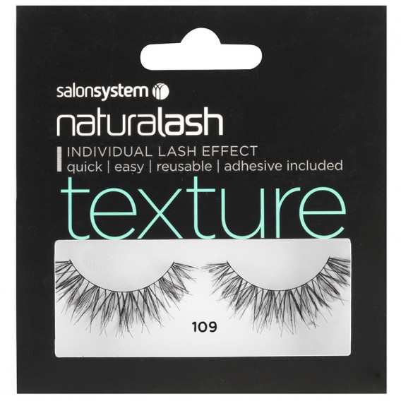 Salon System Naturalash 109 Black Texture Strip Lashes