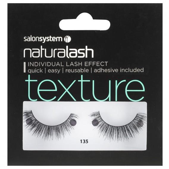 Salon System Naturalash 135 Black Texture Strip Lashes