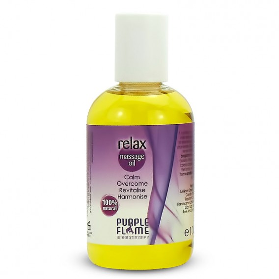 Purple Flame Relax Therapeutic Massage Oil 100ml