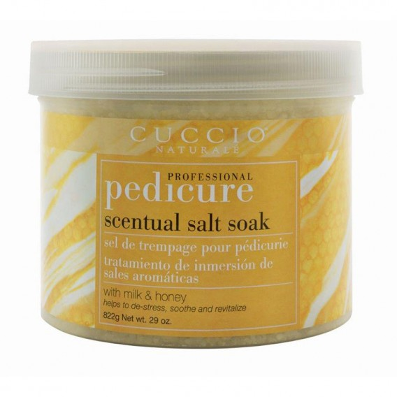 Cuccio Naturale Pedicure Scentual Salt Soak Milk & Honey 29oz
