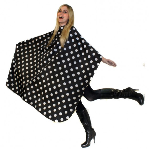 Hair Tools Polka Dot Gown with Poppers