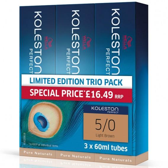 Wella Koleston Perfect 60ml 77/0 Intense Medium Blonde Value Trio Pack