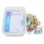 Sibel Mini Hair Elastics Assorted Colours Box of 500
