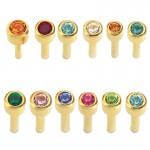 Caflon Assorted Birthstone Packs 24ct Gold x 12 Mini