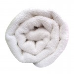 Lotus Microfibre Hair Towel White x12
