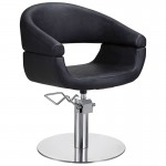 Lotus Chicago Black Styling Chair with Round Base
