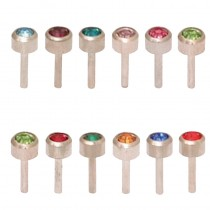Caflon Assorted Birthstone Packs White Stainless Steel x 12