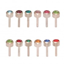 Caflon Assorted Birthstone Packs White Stainless Steel Mini x 12
