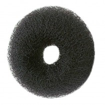Sibel Synthetic Hair Bun Ring Black