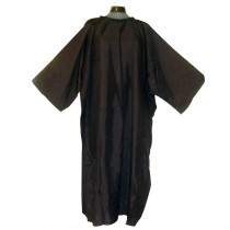 Lotus Crinkle Nylon Cutting Gown/Sleeve Black