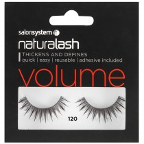 Salon System Naturalash Strip Eyelashes 120 Black