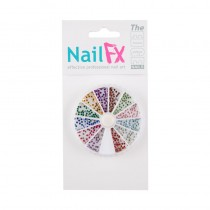 The Edge Nail Art Rhinestone Wheel Round
