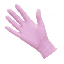 Pro Nitrile Gloves Non-Latex Large Pink x 50 pairs