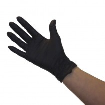 Pro Nitrile Non-Latex Gloves Black Medium x 50 pairs