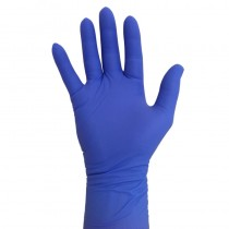Pro Nitrile Gloves Long Cuff Violet Medium x 50 pairs