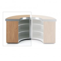 REM Helix Curved Reception Desk