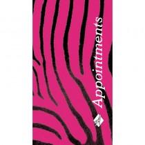 Agenda Appointment Book 3 Column Pink Zebra