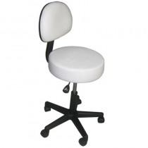 Affinity Stool With Backrest - White